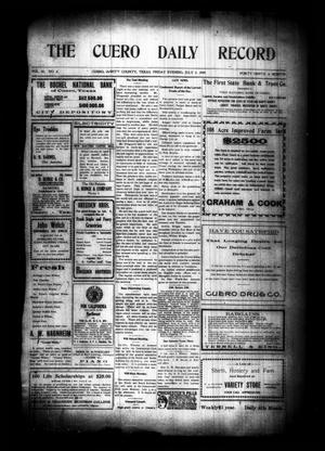Primary view of object titled 'The Cuero Daily Record (Cuero, Tex.), Vol. 30, No. 2, Ed. 1 Friday, July 2, 1909'.