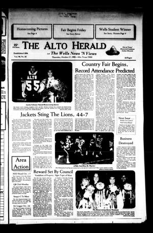 Primary view of object titled 'The Alto Herald and The Wells News 'N Views (Alto, Tex.), Vol. 90, No. 24, Ed. 1 Thursday, October 17, 1985'.