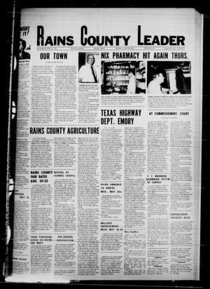 Primary view of object titled 'Rains County Leader (Emory, Tex.), Vol. 87, No. 49, Ed. 1 Thursday, May 15, 1975'.