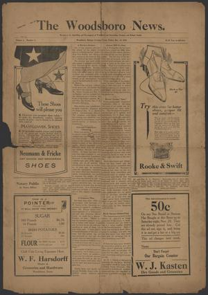 Primary view of object titled 'The Woodsboro News. (Woodsboro, Tex.), Vol. 3, No. 3, Ed. 1 Friday, November 12, 1915'.