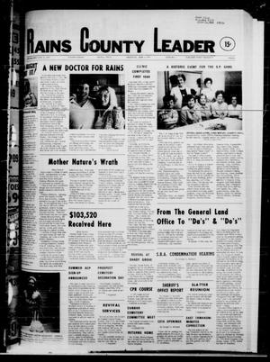 Primary view of object titled 'Rains County Leader (Emory, Tex.), Vol. 92, No. 1, Ed. 1 Thursday, June 7, 1979'.
