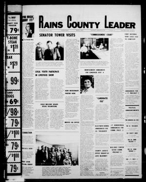 Primary view of object titled 'Rains County Leader (Emory, Tex.), Vol. 90, No. 32, Ed. 1 Thursday, January 12, 1978'.