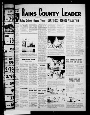 Primary view of object titled 'Rains County Leader (Emory, Tex.), Vol. 90, No. 12, Ed. 1 Thursday, August 25, 1977'.