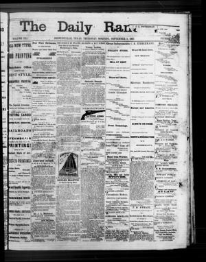 Primary view of object titled 'The Daily Ranchero. (Brownsville, Tex.), Vol. 3, No. [8], Ed. 1 Thursday, September 5, 1867'.
