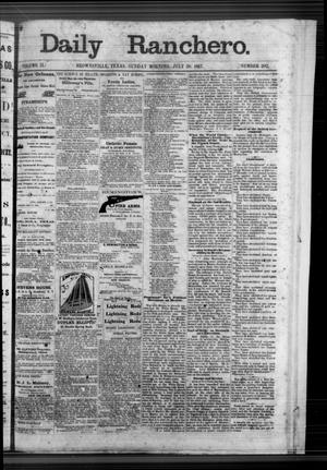 Primary view of object titled 'Daily Ranchero. (Brownsville, Tex.), Vol. 2, No. 282, Ed. 1 Sunday, July 28, 1867'.