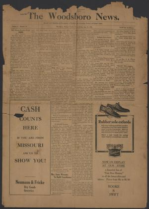 Primary view of object titled 'The Woodsboro News. (Woodsboro, Tex.), Vol. 3, No. 47, Ed. 1 Friday, September 15, 1916'.