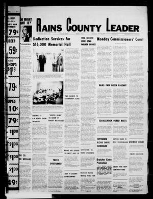 Primary view of object titled 'Rains County Leader (Emory, Tex.), Vol. 90, No. 6, Ed. 1 Thursday, July 14, 1977'.