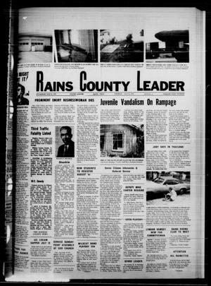 Primary view of object titled 'Rains County Leader (Emory, Tex.), Vol. 88, No. 5, Ed. 1 Thursday, July 10, 1975'.