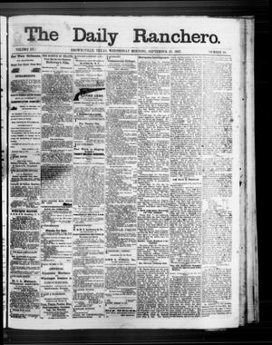 Primary view of object titled 'The Daily Ranchero. (Brownsville, Tex.), Vol. 3, No. 18, Ed. 1 Wednesday, September 25, 1867'.