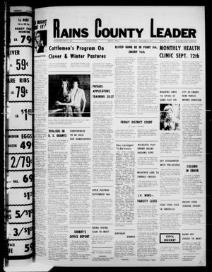 Primary view of object titled 'Rains County Leader (Emory, Tex.), Vol. 90, No. 14, Ed. 1 Thursday, September 8, 1977'.