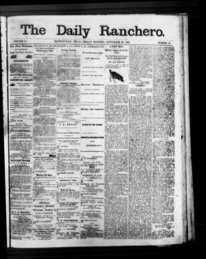Primary view of The Daily Ranchero. (Brownsville, Tex.), Vol. 3, No. 16, Ed. 1 Friday, September 20, 1867