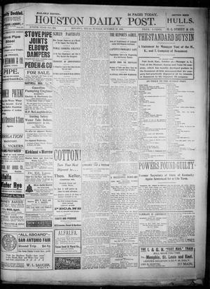 Primary view of object titled 'The Houston Daily Post (Houston, Tex.), Vol. XVIITH YEAR, No. 206, Ed. 1, Sunday, October 27, 1901'.