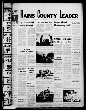 Primary view of object titled 'Rains County Leader (Emory, Tex.), Vol. 90, No. 47, Ed. 1 Thursday, April 27, 1978'.