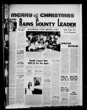 Primary view of object titled 'Rains County Leader (Emory, Tex.), Vol. 88, No. 29, Ed. 1 Thursday, December 25, 1975'.