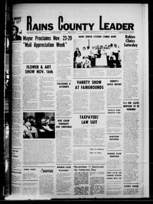 Primary view of object titled 'Rains County Leader (Emory, Tex.), Vol. 88, No. 22, Ed. 1 Thursday, November 6, 1975'.