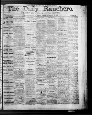 Primary view of object titled 'The Daily Ranchero. (Brownsville, Tex.), Vol. 3, No. 86, Ed. 1 Friday, February 28, 1868'.
