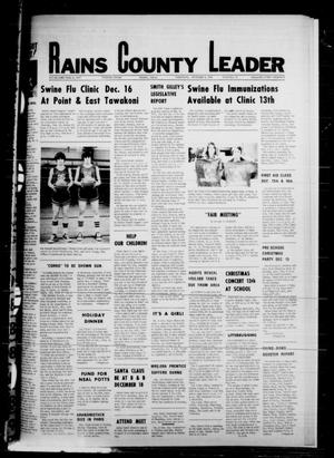 Primary view of object titled 'Rains County Leader (Emory, Tex.), Vol. 89, No. 27, Ed. 1 Thursday, December 9, 1976'.