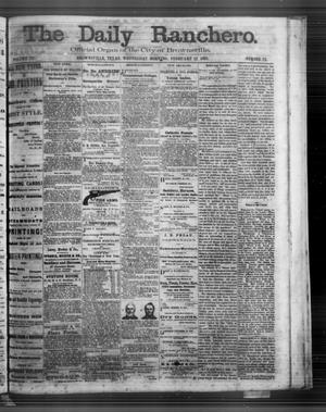 Primary view of object titled 'The Daily Ranchero. (Brownsville, Tex.), Vol. 3, No. 72, Ed. 1 Wednesday, February 12, 1868'.