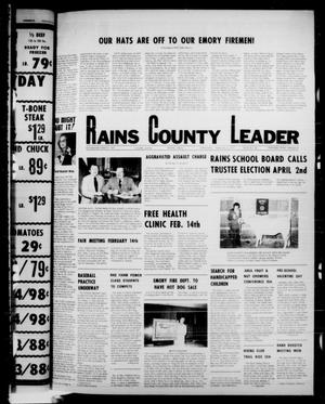 Primary view of object titled 'Rains County Leader (Emory, Tex.), Vol. 89, No. 36, Ed. 1 Thursday, February 10, 1977'.