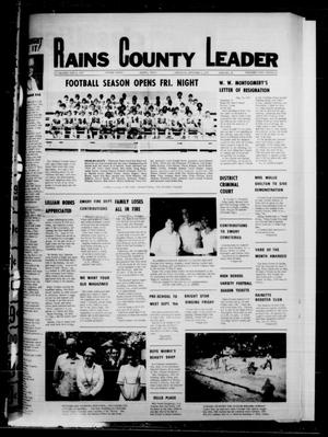 Primary view of object titled 'Rains County Leader (Emory, Tex.), Vol. 91, No. 14, Ed. 1 Thursday, September 7, 1978'.