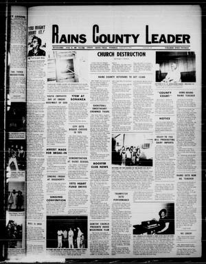 Primary view of object titled 'Rains County Leader (Emory, Tex.), Vol. 87, No. 34, Ed. 1 Thursday, January 30, 1975'.