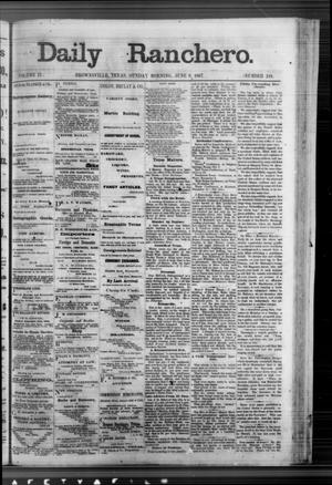 Primary view of object titled 'Daily Ranchero. (Brownsville, Tex.), Vol. 2, No. 241, Ed. 1 Sunday, June 9, 1867'.
