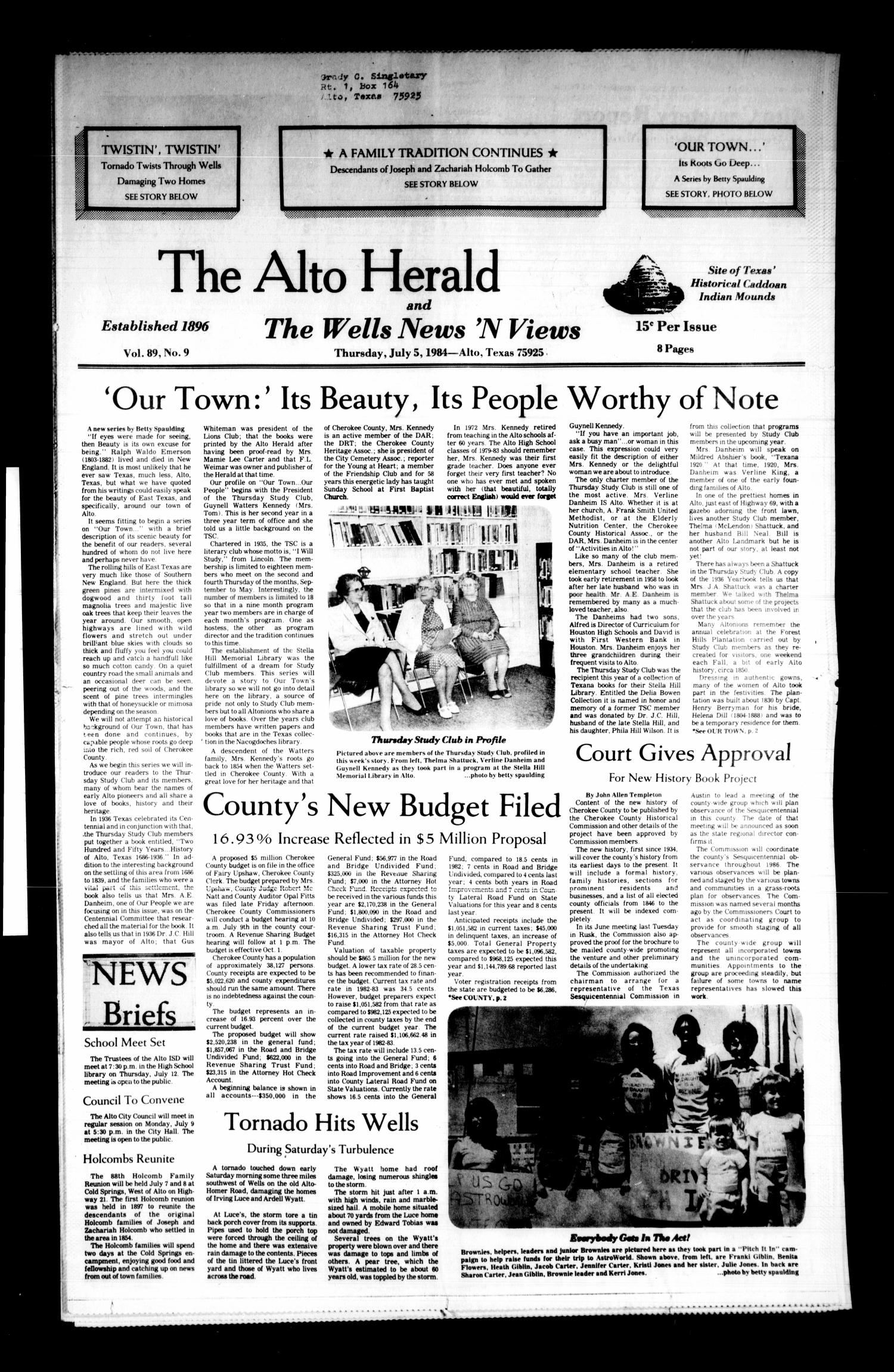 The Alto Herald and The Wells News 'N Views (Alto, Tex
