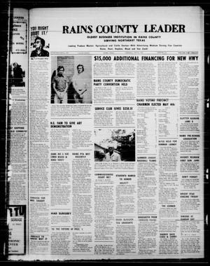 Primary view of object titled 'Rains County Leader (Emory, Tex.), Vol. 86, No. 49, Ed. 1 Thursday, May 16, 1974'.