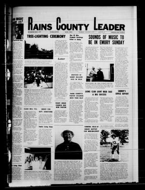 Primary view of object titled 'Rains County Leader (Emory, Tex.), Vol. 88, No. 27, Ed. 1 Thursday, December 11, 1975'.