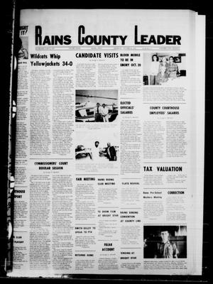 Primary view of object titled 'Rains County Leader (Emory, Tex.), Vol. 91, No. 19, Ed. 1 Thursday, October 12, 1978'.
