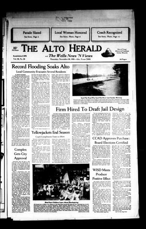 Primary view of object titled 'The Alto Herald and The Wells News 'N Views (Alto, Tex.), Vol. 90, No. 30, Ed. 1 Thursday, November 28, 1985'.