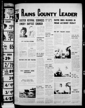 Primary view of object titled 'Rains County Leader (Emory, Tex.), Vol. 89, No. 44, Ed. 1 Thursday, April 7, 1977'.