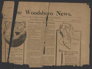 Primary view of object titled 'The Woodsboro News. (Woodsboro, Tex.), Vol. 3, No. [6], Ed. 1 Friday, December 3, 1915'.