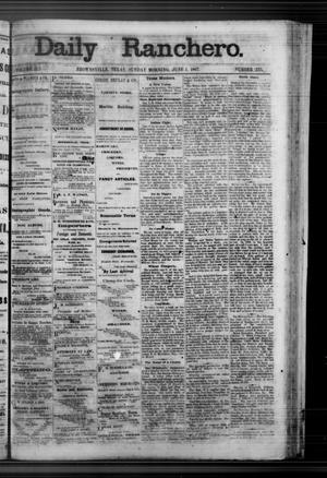Primary view of Daily Ranchero. (Brownsville, Tex.), Vol. 2, No. 235, Ed. 1 Sunday, June 2, 1867