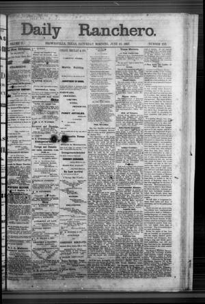 Primary view of object titled 'Daily Ranchero. (Brownsville, Tex.), Vol. 2, No. 252, Ed. 1 Saturday, June 22, 1867'.