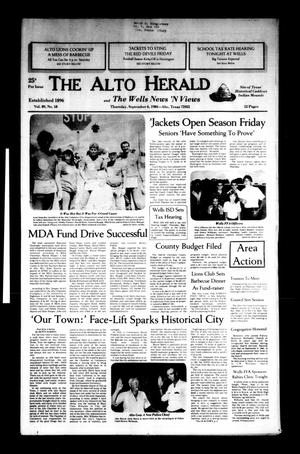 Primary view of object titled 'The Alto Herald and The Wells News 'N Views (Alto, Tex.), Vol. 89, No. 18, Ed. 1 Thursday, September 6, 1984'.
