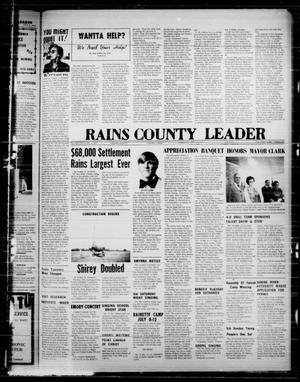 Primary view of object titled 'Rains County Leader (Emory, Tex.), Vol. 87, No. 3, Ed. 1 Thursday, June 27, 1974'.