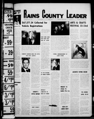 Primary view of object titled 'Rains County Leader (Emory, Tex.), Vol. 90, No. 46, Ed. 1 Thursday, April 20, 1978'.