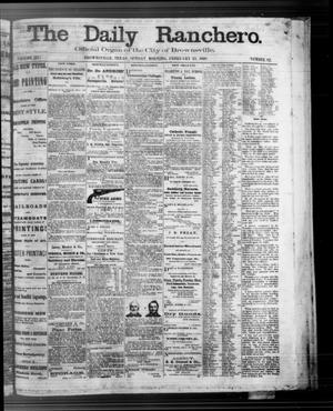 Primary view of object titled 'The Daily Ranchero. (Brownsville, Tex.), Vol. 3, No. 82, Ed. 1 Sunday, February 23, 1868'.