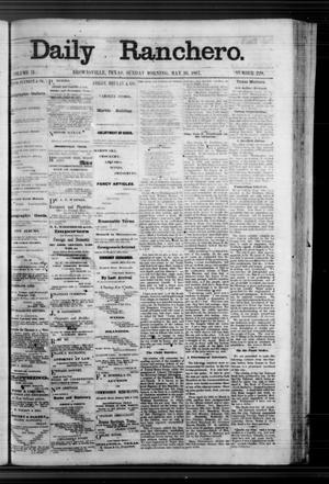 Primary view of Daily Ranchero. (Brownsville, Tex.), Vol. 2, No. 229, Ed. 1 Sunday, May 26, 1867