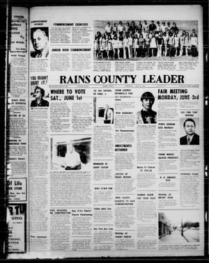 Primary view of object titled 'Rains County Leader (Emory, Tex.), Vol. 86, No. 51, Ed. 1 Thursday, May 30, 1974'.