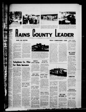 Primary view of object titled 'Rains County Leader (Emory, Tex.), Vol. 89, No. 16, Ed. 1 Thursday, September 23, 1976'.