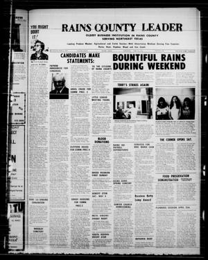 Primary view of object titled 'Rains County Leader (Emory, Tex.), Vol. 86, No. 46, Ed. 1 Thursday, April 25, 1974'.