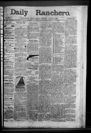 Primary view of object titled 'Daily Ranchero. (Brownsville, Tex.), Vol. 2, No. 289, Ed. 1 Tuesday, August 6, 1867'.