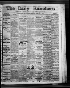 Primary view of object titled 'The Daily Ranchero. (Brownsville, Tex.), Vol. 3, No. 77, Ed. 1 Tuesday, February 18, 1868'.