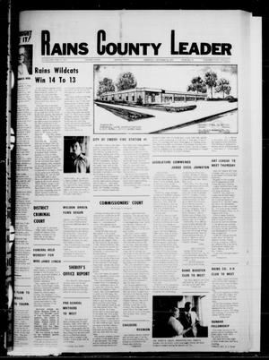Primary view of object titled 'Rains County Leader (Emory, Tex.), Vol. 91, No. 15, Ed. 1 Thursday, September 14, 1978'.