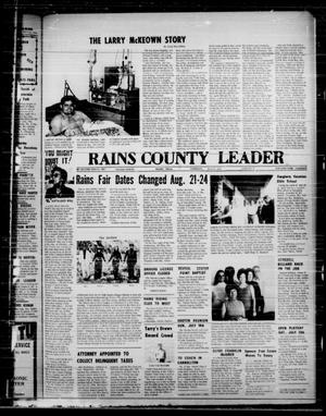 Primary view of object titled 'Rains County Leader (Emory, Tex.), Vol. 87, No. 5, Ed. 1 Thursday, July 11, 1974'.