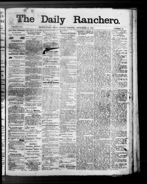 Primary view of object titled 'The Daily Ranchero. (Brownsville, Tex.), Vol. 3, No. 20, Ed. 1 Sunday, September 29, 1867'.