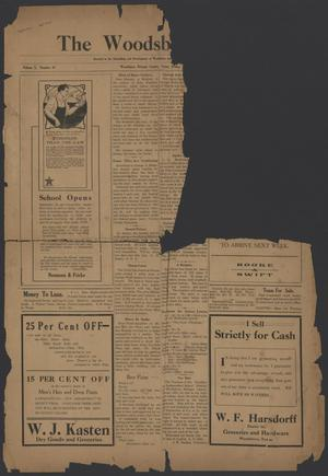 Primary view of object titled 'The Woodsboro News. (Woodsboro, Tex.), Vol. 2, No. 47, Ed. 1 Friday, September 17, 1915'.