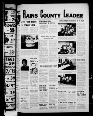 Primary view of object titled 'Rains County Leader (Emory, Tex.), Vol. 89, No. 45, Ed. 1 Thursday, April 14, 1977'.